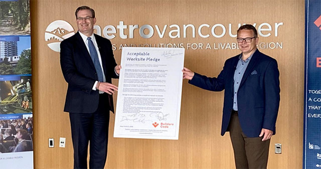 Metro Vancouver Signs the Builders Code Pledge