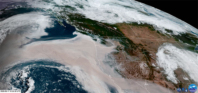 Wildfire smoke causes poor air quality across the region