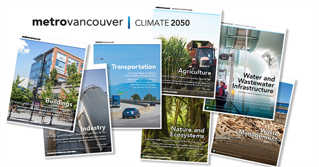 Climate 2050: Energy, Water and Wastewater Infrastructure Roadmap Discussion Papers